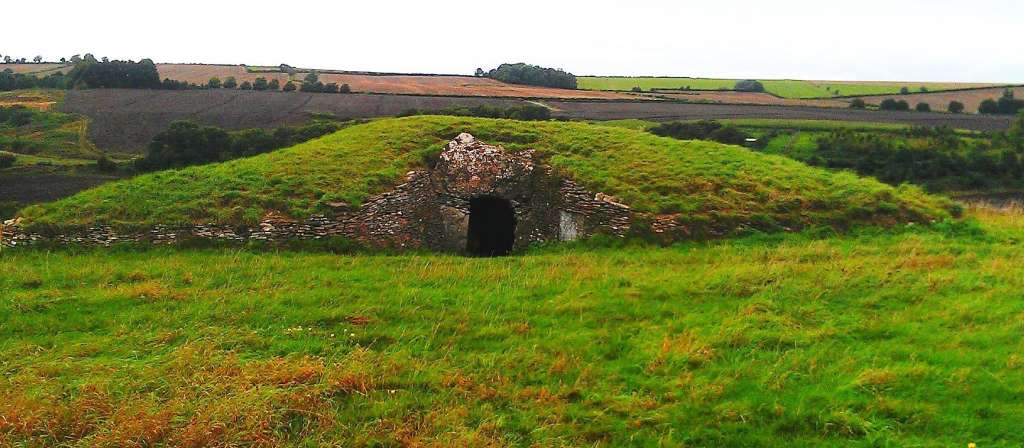 Front of Stoney Littleton Long Barrow, National Trust Attractions, Toghill House Farm
